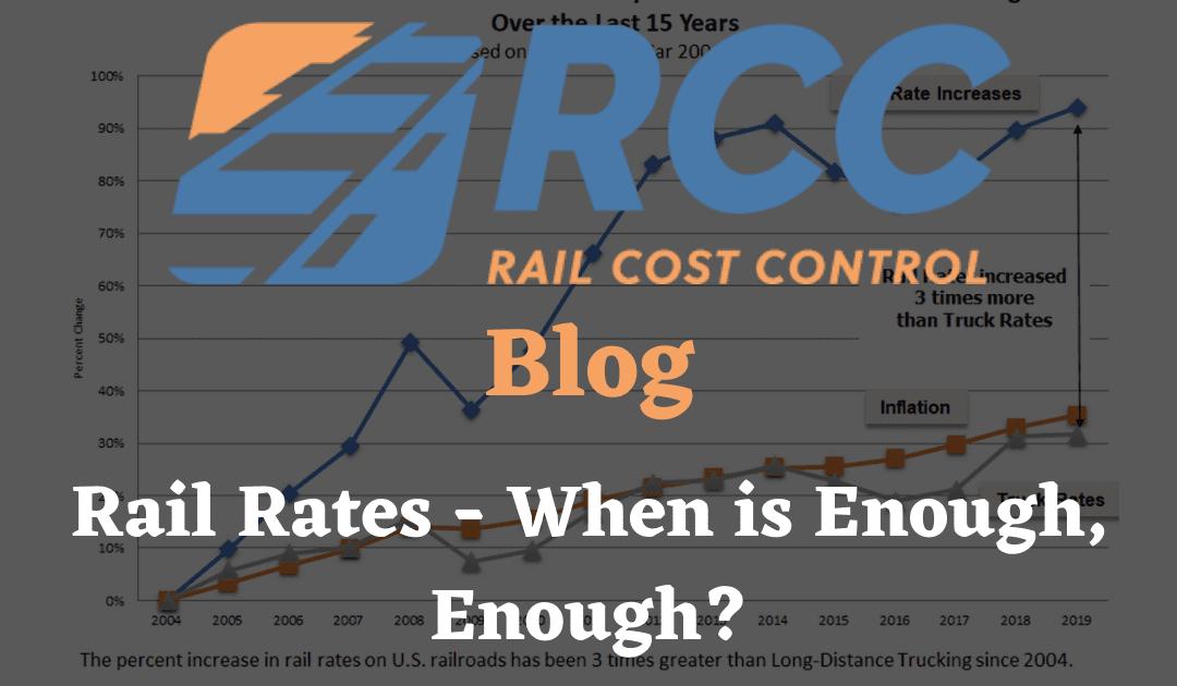Rail Cost Control Blog - Rail Rates